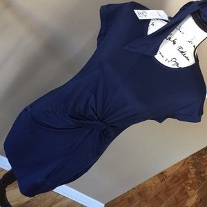 Elia Cher navy blue dress size 10 NWT cute